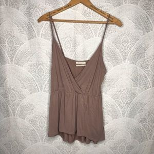 UO muted pink babydoll tank